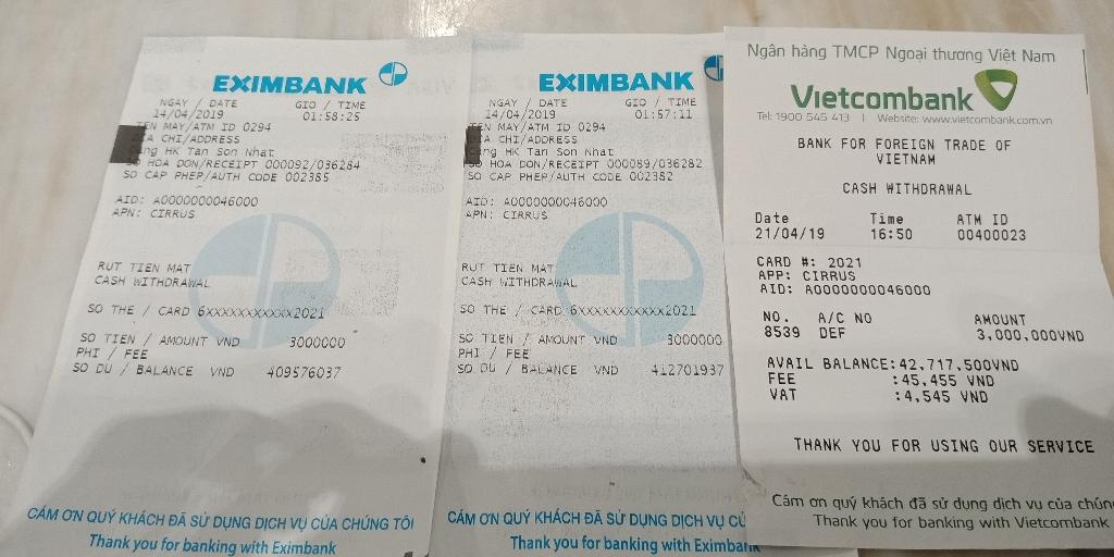 A practical guide on ATM cash withdrawal in Vietnam -sailor (Ocean